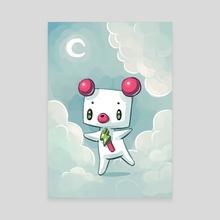 Dreamy Bear - Canvas by Indré Bankauskaité