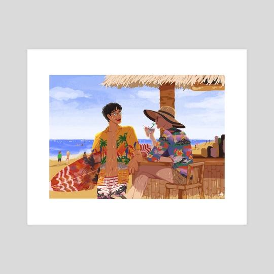 Boys at Beach by Banana GeGe