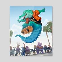 Ollie Gator - Acrylic by Michael Dashow