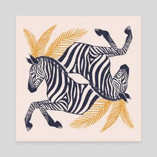 Zebras - Canvas by Ash Weaver