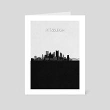 Pittsburgh - Art Card by Deniz Akerman