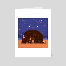 Big and Little - Art Card by Amy Bouchard