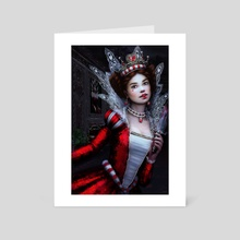 Killer Queen of Hearts - Art Card by Tanya Varga