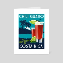 costa rica chili guaro - Art Card by matt schnepf