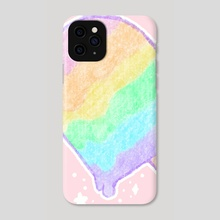 Pastel Rainbow Melty Popsicle - Phone Case by Bridget Garofalo