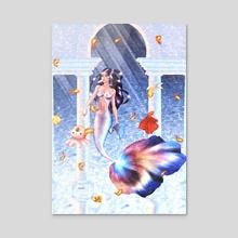 Inu  - Acrylic by Mayada Elbeheiry
