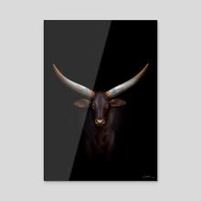 Bull digital painting - Acrylic by Sundeep Kumar