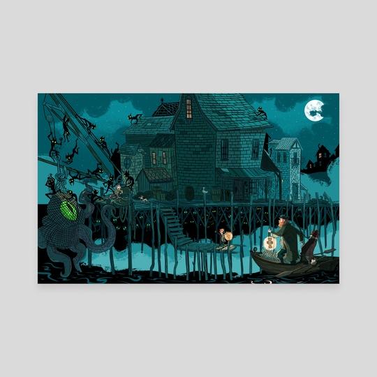 Spooky Harbor by Daniel Krall