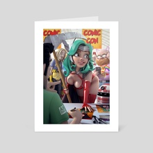 Comic Con curves - Art Card by Andrew Hickinbottom