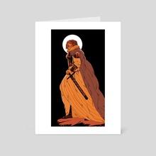 Orange Knight - Art Card by Juliette Cousin