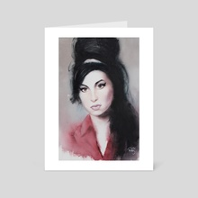 Amy Winehouse - Art Card by Wout de Zeeuw