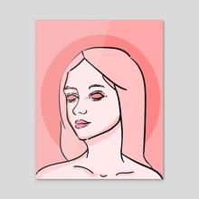 Pink Soul - Acrylic by Ericka Webb
