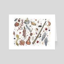 Slacker Samhain - Art Card by Amy Nichole