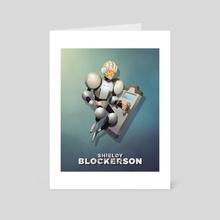 Shieldy Blockerson - Art Card by Steve Courtney