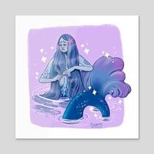 Mermay 04 Lapis blue - Acrylic by Teresa Vannini