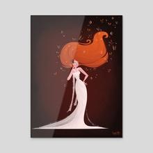 Butterfly Goddess - Acrylic by Stephy Coffey