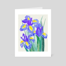 Dutch garden irises sketch - Art Card by Irina Koksharova