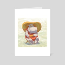 Lady Hippo - Art Card by Natalya Chernobryvets