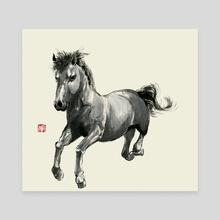 Horse - 2 - Canvas by River Han