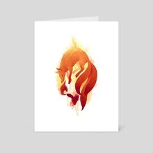 Fire Fox - Art Card by Indré Bankauskaité