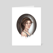 Lara Croft - Art Card by Lilia Smith
