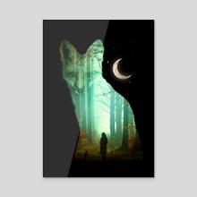 Guardian Fox - Acrylic by Nicebleed