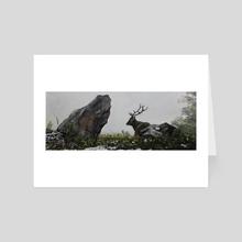 Elk in the Mist - Art Card by Kay Bierdz