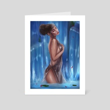 Waterfall - Art Card by Starling Snow
