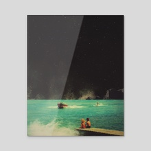 Thassos - Acrylic by Frank  Moth