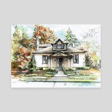 Walnut Cottage - Canvas by Danuta Niton