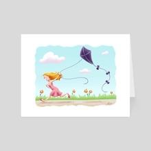 Kite Flying - Art Card by Sara Kuba