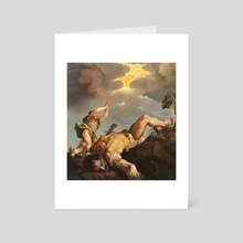 David and Goliath - After Titian - Art Card by Luke Oram