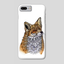 Fox Portrait - Phone Case by Zanna Field