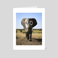 Mask On - Art Card by Justin Peters