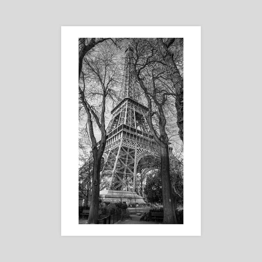 Paris Eiffel Tower Black And White Photography An Art Print By Thorsten Schmitt Inprnt