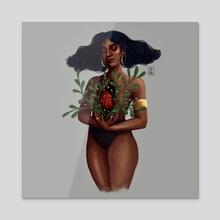 Open - Acrylic by Angelica Gutierrez
