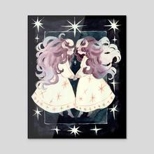 Starry Twins - Acrylic by Julie W.