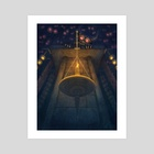 Candle Of Fear - Art Print by Cédric Godin Olicard