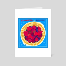 STRAWBERRY + BLUEBERRY - Art Card by Tao