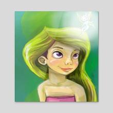 Fairy touch - Acrylic by Jelena Petkovic