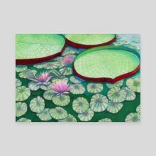 Lilies - Canvas by Anna Zhigalov