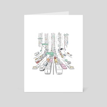 Traffic Jam - Art Card by Violet Reed