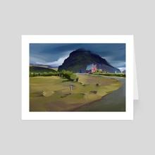 Iceland - Art Card by Michał Sawtyruk