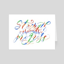 Jayce | Strength Through Progress Quote - Art Card by LoLettering