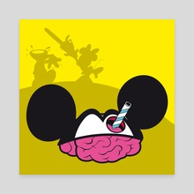 mickey head - Canvas by myoopia marcello