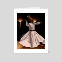 The Sufi - Art Card by Reem Abdelbadie