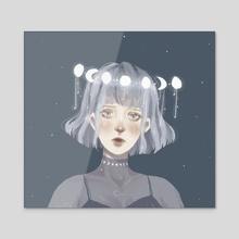 Stars - Acrylic by Amanda Lim