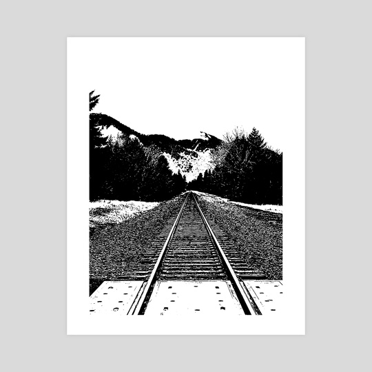 Standing on the Tracks by Kayla Hassell