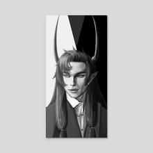 Vincent black - Acrylic by Anastasia Asteltainn