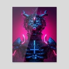 Neon Demon I - Acrylic by sick 666 mick